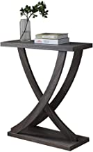Home& Simple Furniture / 2 Tier X- Design Console Sofa Side Table Bookshelf Entryway Accent Tables w/Storage Shelf Living ...