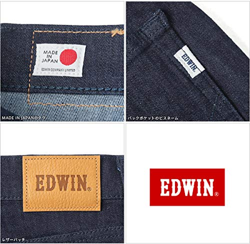 EDWINエドウィンESD22ESTANDARDデニムジーンズスキニー日本製(M01ブラック)