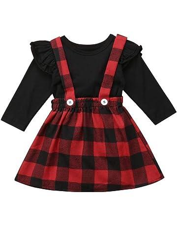 a maniche corte per primavera Vestito estivo per bambina DaMohony gonna rossa per bambine estive con fiocco