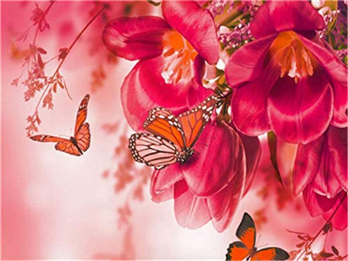 Pour un merveilleux Grand Nan Fleurs /& Papillon Design HAPPY BIRTHDAY CARD