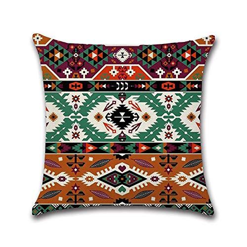 Zjcpow Fodera per Cuscino Mandala Orientale Bliss Fiore Arabesque Cuscino Copricuscino Divano Sofa Decor (Color : Red, Size : 45x45cm)