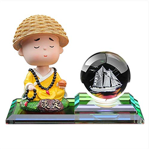 WSJTT Creative Center Console Perfume Car with Aromatherapy Small Monk Dashboard Decorations Car Home Office Ornaments Best Birthday