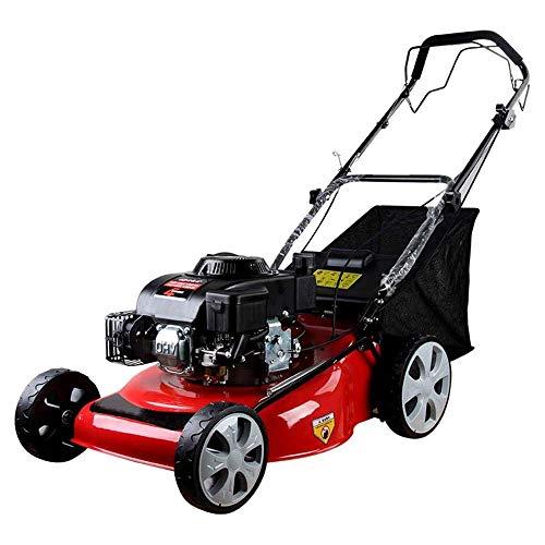 KJRJG Gasoline Lawn Mower, Self-Propelled 6.0 Horsepower 20 Inch Mower Four-Stroke Multi-Function...