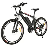 26' Bici Elettrica da Città/Trekking/Mountain, Batteria Rimovibile agli Ioni di Litio da 36 V/12,5...