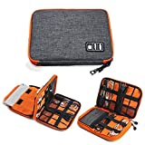 TOUARETAILS Travel Digital Accessories Storage Bag, Gadget Organizer Case Portable Zippered Pouch For All Small Gadgets Tablet, iPad Mini, Charger, Power Bank, Earphones, Memory Card, USB Data Cable, Camera Accessories Pen Drive etc hdd media players Oct, 2020