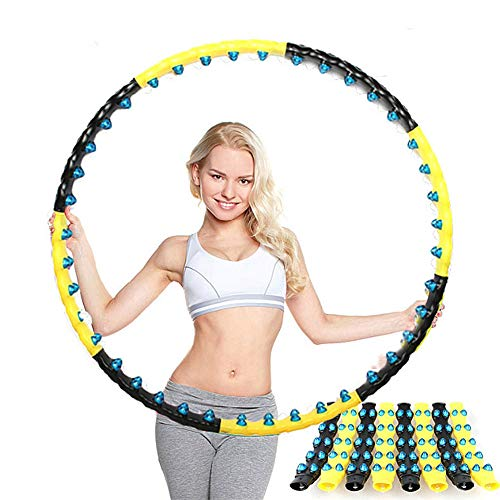 Find Bargain LIN Massage Hula Hoop, Removable Waist and Abdomen Sports Hula Hoop, Massage Fitness Ri...