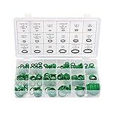 YAYANG Gasket 495Pcs / Pack O Ring in elastomero Rondella Guarnizioni Assortimento Nero O-Ring Guarnizioni Set Resistenza di Olio 36 i Formati for Le Auto Guarnizione Tool Parts (Color : Green)