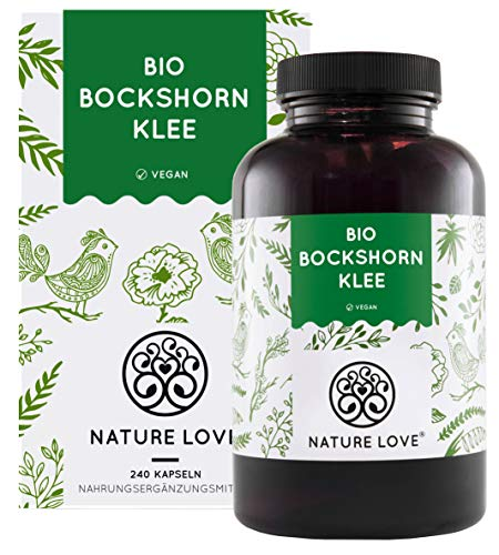 Nature Love® Bio Bockshornklee - Hochdosiert mit 2600mg (650mg je Kapsel) - 240 vegane Kapseln - Laborgeprüft und frei von unerwünschten Zusätzen - zertifiziert Bio - hergestellt in Deutschland