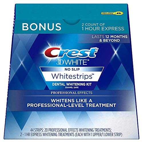Crest 3D White Professional Effects Whitestrips Whitening Strips Kit, 22 Treatments, 20 Professional...