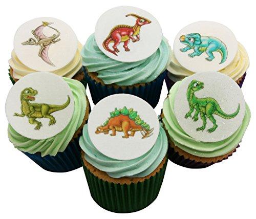 Wunderschöne essbare Kuchendekorationen - 48 Dinosaurier / 48 Edible Dinosaur Cake Decorations