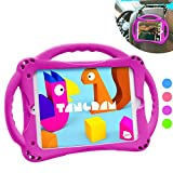 TopEsct Kids Case for iPad Mini 5 4 3 2 1,Silicone Childproof for All Kinds of iPad Mini, Built-in Handle Stand, Comes with a Strap. (Purple)