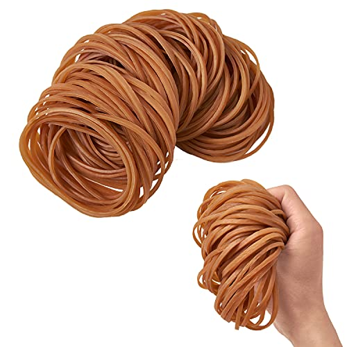 100 Pieces (4 Inch) Natural Yellow Color Rubber Bands Elastic Trash Can Bands Office File Folder Strong Elastic Rubber Bands for Office Supplies School Home Elastic Hair Band