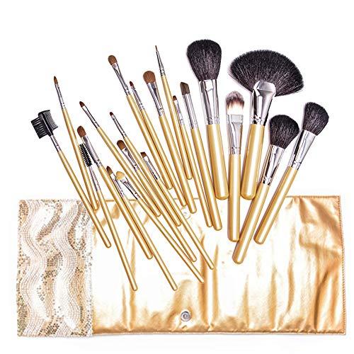 Jeu De Pinceau De Maquillage Professionnel 21 Pcs Ombre Oeil Contour Brosse En Forme D'éventail Multifonction Brosse Pour Le Studio Photo Artiste Maquillage
