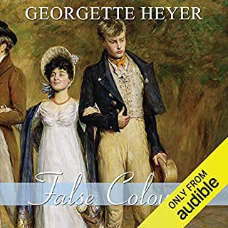 False Colours                   By:                                                                                                                                 Georgette Heyer                               Narrated by:                                                                                                                                 Phyllida Nash                      Length: 10 hrs and 54 mins     202 ratings     Overall 4.6