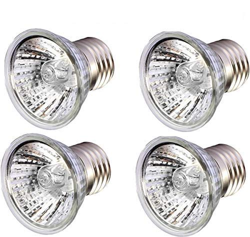 75W Sun Light, UVA + UVB Full Spectrum Sun Lamp Sunbathe Heat Lamp Bulb Light for Lizard Reptiles Amphibians (4 Packet)