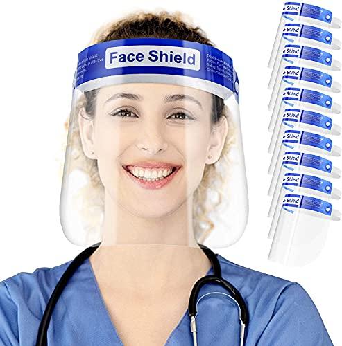 Full Face Protective Shield Visor   Face Visor Men & Women   Dust Proof Cover, Oil Fume   Clear Film Elastic Band and Comfort Sponge