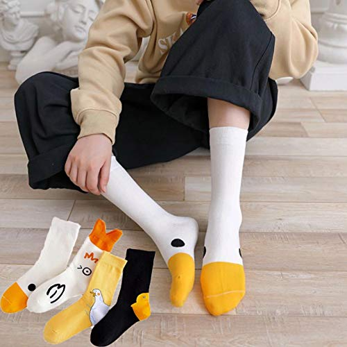 MIWNXM 10 Pares Women Socks Novelty Style Animal Printed Combed Cotton Socks Cute Casual Funny Fashion...