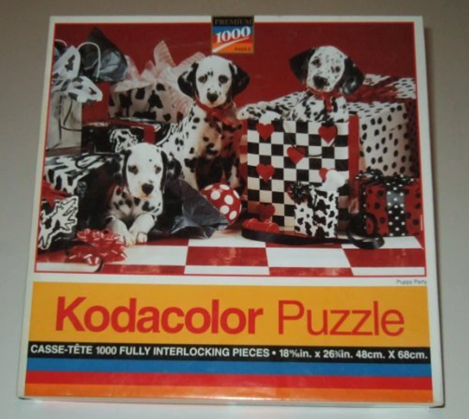 Kodacolor 1000 Piece Jigsaw Puzzle  PUPPY PARTY by Kodacolor
