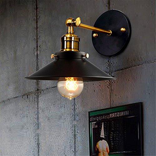 JJZHG wandlamp wandlamp waterdichte wandverlichting retro restaurant bar gang nacht creatieve single head zwarte jurk wandlamp (25E4) bevat: wandlamp, stoere wandlampen