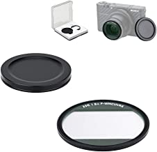 JJC Lens UV Filter for Sony RX100 V RX100 VI RX100 VII Canon G7X Mark II G7X Mark III 99.5% Light Transmission 38 Layers L39 Ultra Slim Multi-Coated -Including Filter Case & Metal Cap