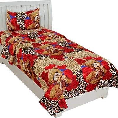 ZATCHBELL Cotton 144 TC Bedsheet (Multicolour_Single)