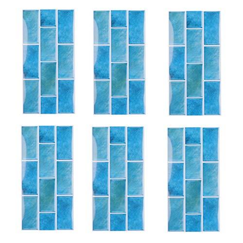 PVC impermeable tridimensional decoración de la pared hermosa decoración de la pared pegatina para azulejos, papel tapiz de cocina práctico para uso doméstico en la cocina