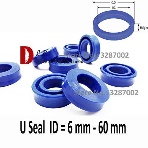 Ochoos UHS U Seal ID =6 mm - 60 mm U Cup Single Lip Hydraulic Cylinder Piston and Rod Seal U Ring Polyurethane (PU) Rubber - (Size: 16x24x5)