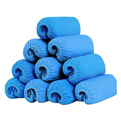 Einweg-Schuhüberzieher, rutschfest, Blau, 100 Stück (50 Paar), langlebig, für den Innenbereich, für Böden, Teppich und Schuhe