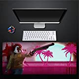 Almohadilla para ratón, diseño creativo, pollo rosado, mancha de sangre, extra grande, impermeable, acolchado, almohadilla para el ratón, almohadilla del teclado, almohadilla del teclado, jueg