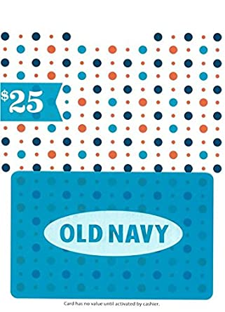 Amazon Com Old Navy Holiday Gift Card 25 Gift Cards