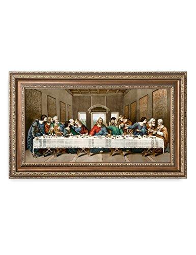 DECORARTS -The Last Supper, Leonardo da Vinci Classic Art Reproductions. Giclee Print& Museum Quality Framed Art for Wall Decor. 24x12, Framed Size: 29x17