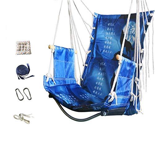 ZXL schommelstoel hangmat, ademend en comfortabel, ontspannende hangende schommelstoel met wattenpad voor binnen en buiten, slaapkamer, patio, deck yard tuin