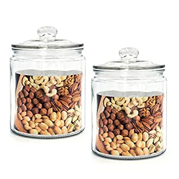 Best glass canisters with lids Reviews