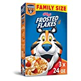 Frosted Flakes Breakfast Cereal, Original, Excellent Source of 7 Vitamins & Minerals, Family Size, 24oz Box(Pack Of 3), 72 Oz