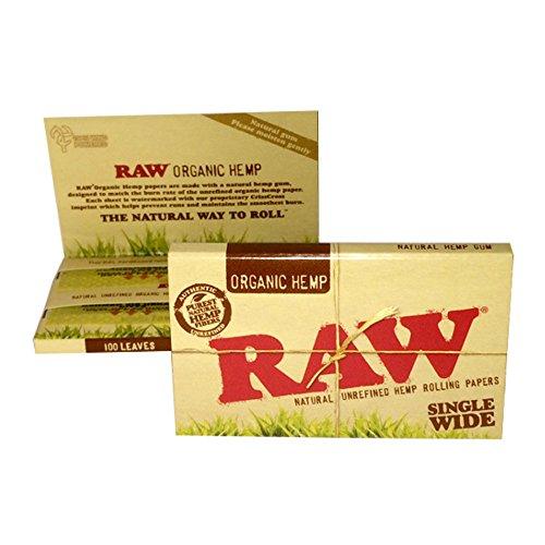 RAW(ロー) オーガニックヘンプ ダブル ペーパー 100枚入り ×10個パック 手巻きタバコ 喫煙具