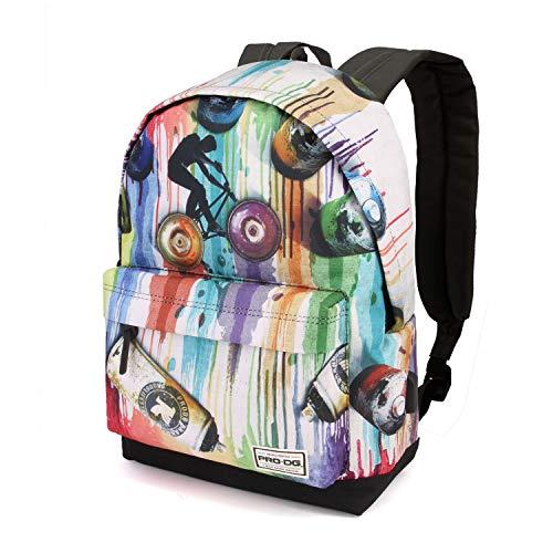 PRODG Graffiti-Sac à dos Freestyle Rucksack, 42 cm, 21 liters, Mehrfarbig (Multicolour)