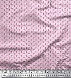 Soimoi Rosa Seide Stoff geometrische Stern Hemdenstoff