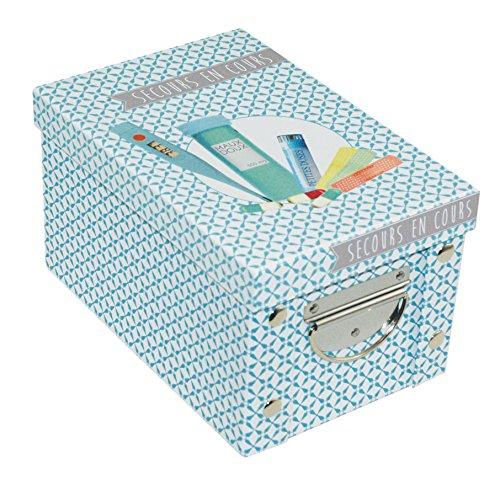 Incidence Paris 42549 Boite ADEKUAT - Premiers Secours, Carton, Bleu, 23,5x15,6x14 cm