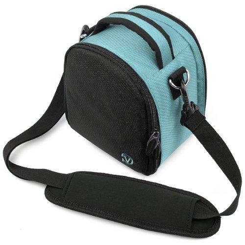 VanGoddy - Borsa Laurel per fotocamera digitale Nikon Coolpix L320 (azzurro)