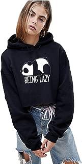 Hustle Bustle Being Lazy Crop Hoodie fir Girls and Women Crop Sweatshirt and Crop Tops or Girls