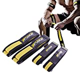 Occlusion Bands,4 Pack (2 Bicep Bands,2 Leg Bands), Comfortable Elastic Bands for Blood Flow Restriction Training and Fast Muscle Growth Without Lifting Heavy Weights