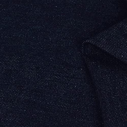 QDTD Tela De Mezclilla 100% Algodón 150 cm De Ancho 1m por Metro Utilizada para Coser Ropa,Jeans Populares,Coser Cojines,Cortinas Y Accesorios para El Hogar(Color:Azul Marino)