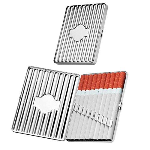 SILBERKANNE Zigarettenetui Frankfurt 10,5x8,5x1,5 cm Silber Plated versilbert in Premium Verarbeitung