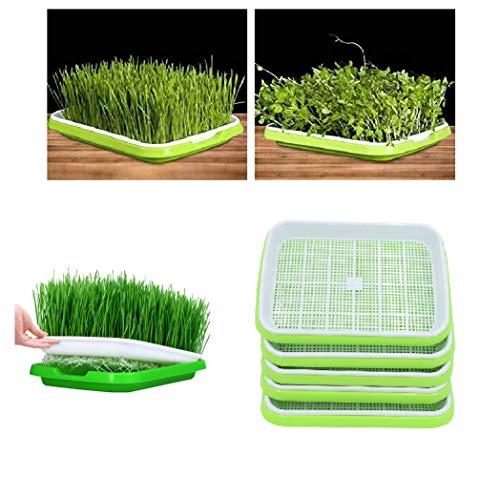YAKOK Germinador de semillas, 5 unidades de doble capa de propagador de semillas para germinador de semillas