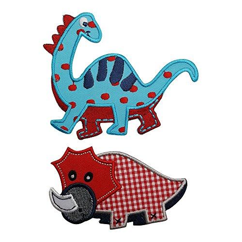 TrickyBoo Red Dino 9X6Cm Diplodocus 10X8Cm