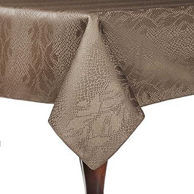 Ultimate Textile Modern Damask Kenya 72 x 72-Inch Square Tablecloth Sand Beige