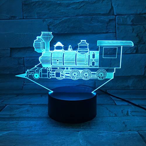 Led-nachtlampje met USB-aansluiting, voor transport, locomotief, 7 kleuren, RGB, decoratieve verlichting voor jongens, kinderen, babygeschenk, verjaardag, slaapkamer, bedlampje, kerstcadeau