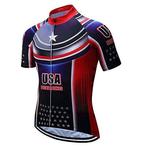 Shenshan USA Bike Camisetas Hombres Ciclismo Maillot Deportes MTB Montar Ropa Azul...
