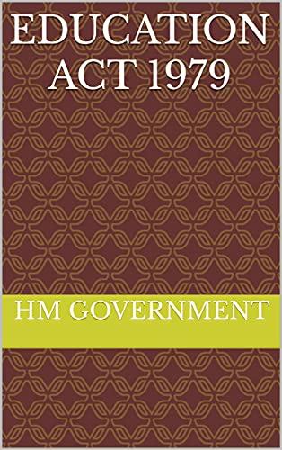 Education Act 1979 (English Edition)