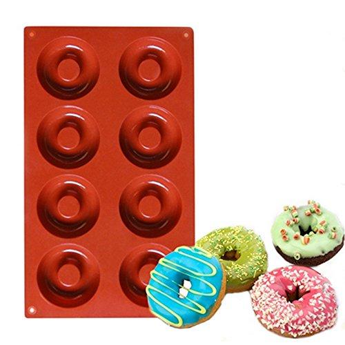 SUHE 2PCS-Mini Doughnut Maker Edible grade Silicone Donut Baking Pan Non-Stick Donut Mold Donut Pan Mold for Baking Dishwasher, Oven, Microwave, Freezer Safe